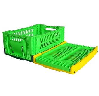 mini size plastic crate 30*20*12 cm collapsible storage basket