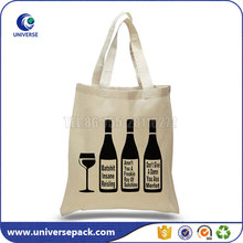 custom shopping gift 12oz canvas beer tote bag with silk printing