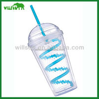 clear plastic cup with straw fruit juice cup