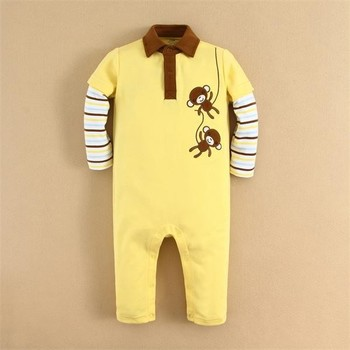 MOM AND BAB Wholesale Online Embroidery Cotton Kids Boys Clothes Romper Factory in China (14234)