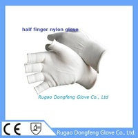Hot sale CE EN388 reusable nylon resistant glove white 4131 for lights part handling/mobile phones/electronic