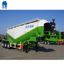 cement trailer truck 40 cbm cement contain trailer | TITAN VEHICLE