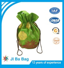 Multicolor Cotton Gold Stamp Printed Velvet Jewellry Drawstring Bag