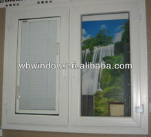 American style pvc windows with built in blind, pvc casement windows