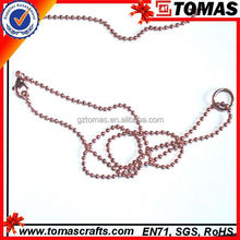 Guangzhou custom wholesale ball chain lobster clasp necklace