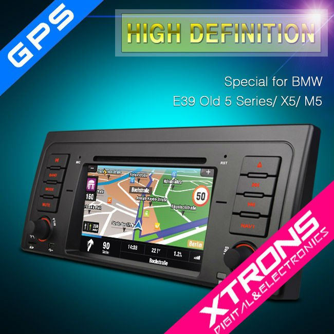 "PF7139B:xtrons 7"" car stereo special for BMW E39 Old 5 Series/X5/M5"