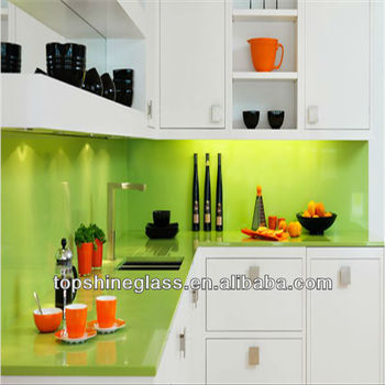 5mm 6mm kitchen glass splash back