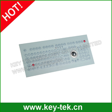 IP65 dustproof industrial membrane keyboard with mini trackball