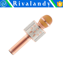 Newest Wireless Microphone with Micro Speaker Mini Karaoke Player of High Quality