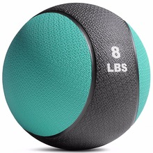 8LB Crossfit Rubber Material Two Color Bouncing Medicine Ball