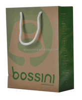 shopping paper bag with recycled paper
