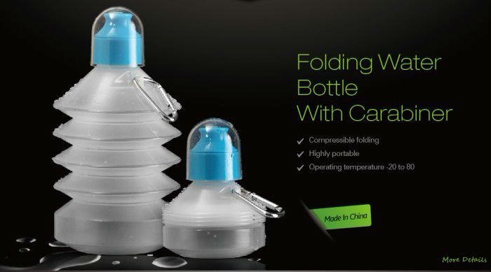 fashion collapsible water bottle/foldable bottle