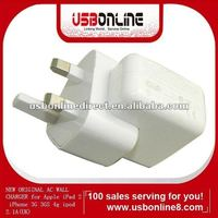 NEW ORIGINAL AC WALL CHARGER for Apple iPad 2 iPhone 3G 3GS 4g ipod 2.1A(UK)