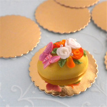 Wholesale decorating supplies golden round foil paper cover drum cake board