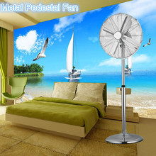 4 metal blade antique pedestal fan