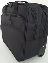 Carry On Small Size Trolley Bag Laptop And Tablet Pc Bag With Aluminum Trolley