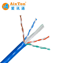 China Ethernet 23awg 0.56mm solid bare copper utp cat6 lan 4pr cable price per meter 1000ft 305m/roll cat 6
