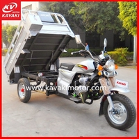 Guangzhou KAVAKI electric pedicab rickshaw/electric mini truck / three wheel adult motorcycle with steering wheel