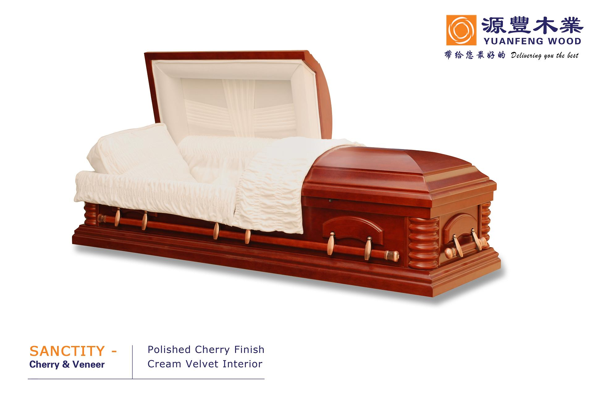 SANCTITY coffins solid wood veneered casket
