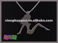 chic fashion women stainless steel sex lady bio energy charm pendant jewelry