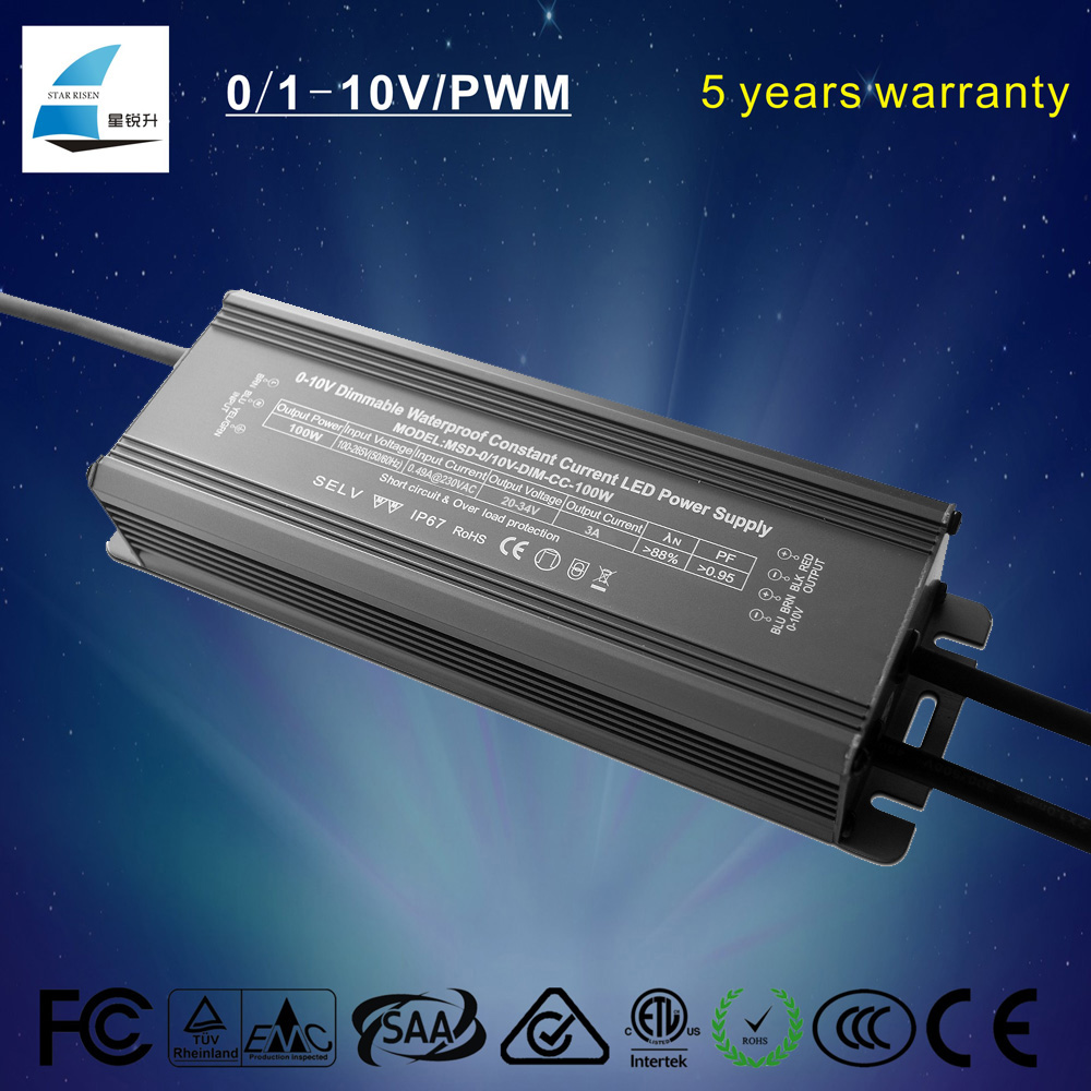 100w led dimmer 0-10v constant current dimmable led driver for your street light rd light flood light