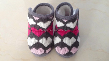 warm and comfortable knitted baby booties