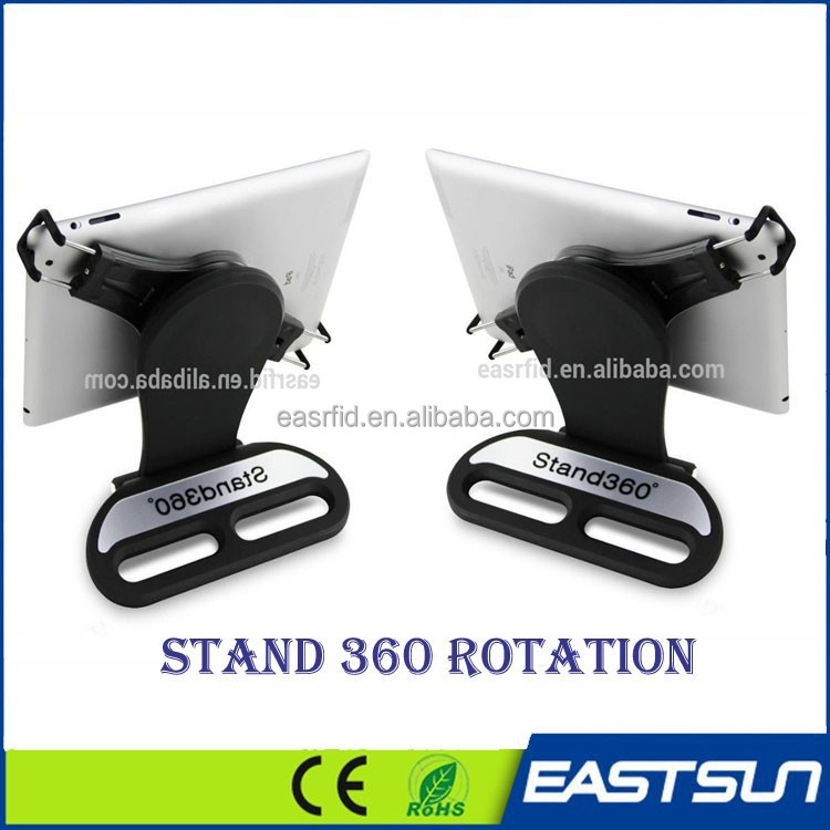 New design 360 degree adjusted rotation with clamp tablet pc retail display stand