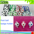 latest football soccer retractable badge holder key chain