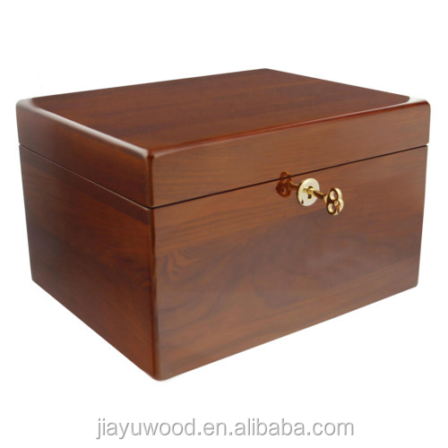 First-rank solid poplar funeral service equipment wood box pet cremation urn for sale