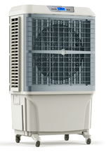 Electric evaporative air cooler fan with air humidity display