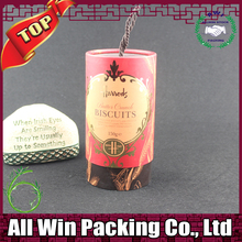 decorative Christmas round gift tube Red Wine Bottle Packaging Paper Tube for Wine Christmas