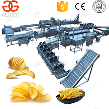Industrial Fully Automatic Making Machine French Frozen Fries Potato Chips Production Line