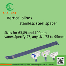 COTTAI blinds accessories stainless steel vertical blinds spacer