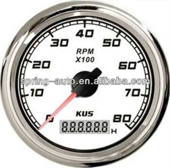 KUS 85mm tachometer 0-8000RPM for boat truck car
