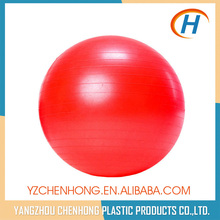 65cm pvc exercise yoga ball with foot pump, pvc solid rubber yoga ball, fitness yoga ball factory