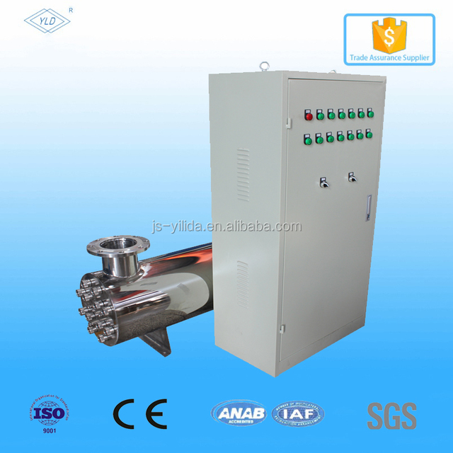 120m3/hr Automatic cleaning UV lamps sterilizer for drinking water treatment plant
