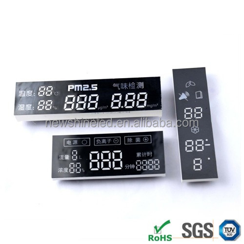 Top quality custom 4 digit led humidity temperature 7 segment led clock display