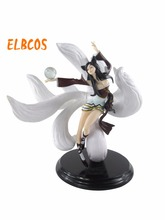 Nine-Tailed Fox Ahri Cosplay The original skin 25cm/9.8'' PVC GK Action Figures Toys Model Garage Kits