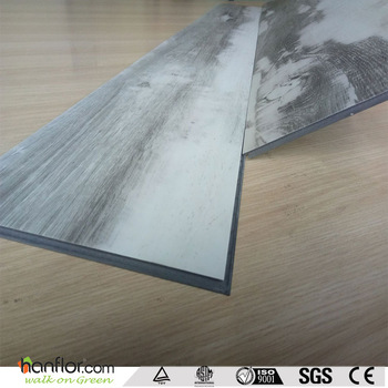 Semi-glossy Wood Pattern Unilin Lock Pvc Flooring