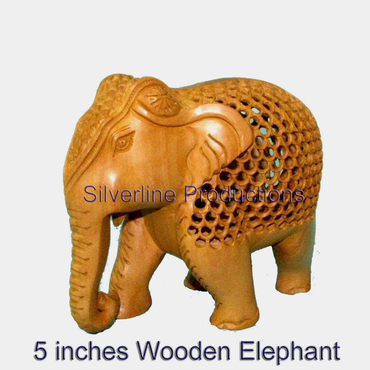 Christmas Gift Wooden Under-Cut Elephant