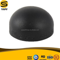 ASTM A234 WPB Carbon Steel Pipe Fittings Black Paint Hot Dipped Galvanized BW Butt Welding Sch40 STD Sch80 XS Cap
