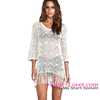 Sexy Crochet Knit Fringe Tunic Beachwear Dress Hot Selling Beach Swim Suit Cover Up 2016