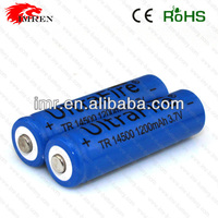 14500 1200mAh Ultrafire TR14500 1200mAh 3.7V Li-ion rechargeable battery with button top