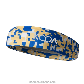 Hot sale sports headbands profession wholesale customized logo sublimation polyester yoga womens headbands