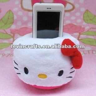 hello kitty toy cell mobile phone plush holders