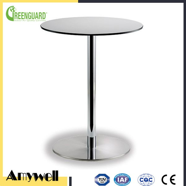Amywell free samples fireproof round edge phenolic dinging coffee garden HPL table top