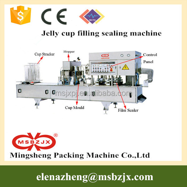QS standard JX028 Automatic Pudding cup Filling and Sealing Machine