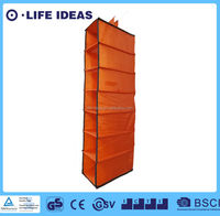 8 shelf fabric hanging closet organizer storage with drawers