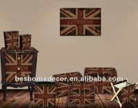 2012 Olympic Union jack trunks chests classic antique furniture