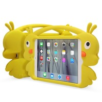 Promotional new cute yellow duck cartoon Silicone cover case for IPAD MINI 1 / 2 / 3